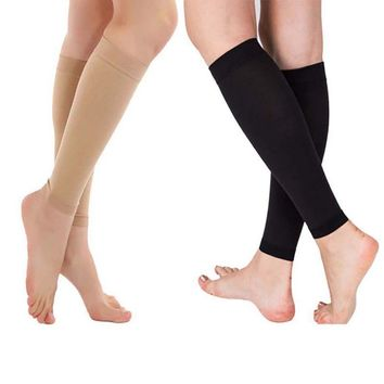 Men Women Calf Compression Sleeve Socks Slim Relief Shin Leg Socks Running Sport