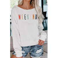 Embroidered Weekend Sweatshirt