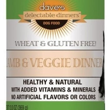 DAVES PET FOOD DOG CANS - DELECTABLE DINNER LAMB/VEGETABLE DOG - 12/13OZ - DAVE'S PET FOOD - UPC: 685038111586 - DEPT: OTHER PET FOODS