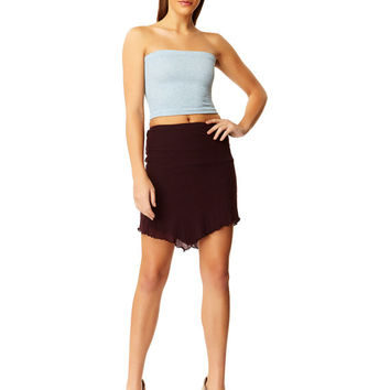 a4904452822 Blue Stone Heather Cotton Tube Top X American Deadstock