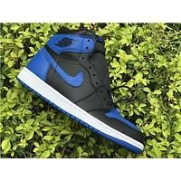 Nike Air Jordan Retro 1 High OG Black Royal BG  575441-007  Basketball Sneaker