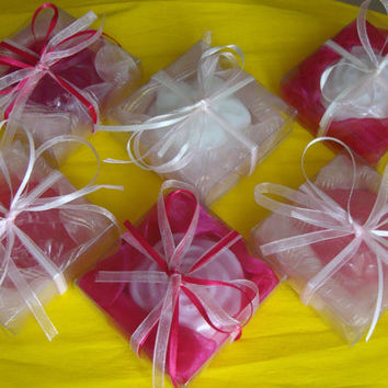 Handmade Bonbonniere/Baby Shower Favors/Guest Gifts - Set of 14 Scented Soaps boxes! Ideal for Girl's Baptism, Cresima, Party, Birthday