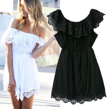 Women's Fashion Lace One Piece Dress [5012903428]