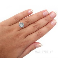 Monogrammed Sterling Silver Audrey Ring | Marley Lilly