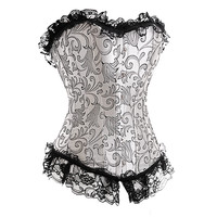 Black Lace Wedding Corset Top