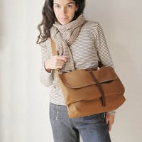 The Day Pack in Cinnamon Brown by infusion on Etsy