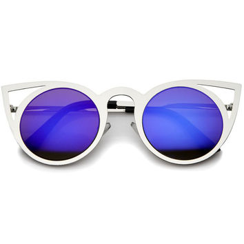 NEO MIRROR LENS CAT EYE SUNGLASSES