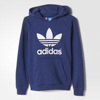 adidas Trefoil Flock Hooded Sweatshirt - Multicolor | adidas US