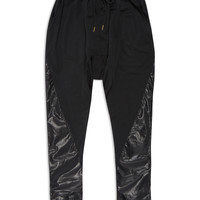 Drop Crotch Leather Joggers
