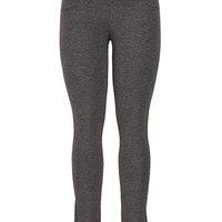 The Skinny Knit Pant Charcoal With Elastic Waist - Charcoal