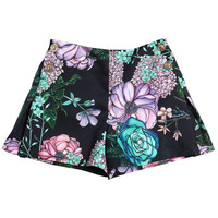Versace Girls Dark Navy Floral Printed Shorts   New Collection