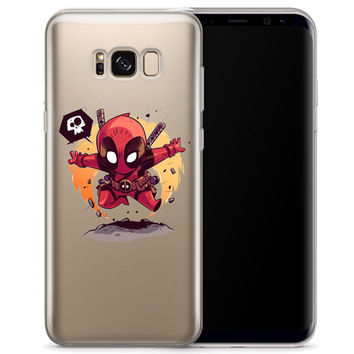 Deadpool (animated) Jelly Clear Case for Samsung Galaxy S8