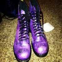 Galaxy Doc Martens by EnvyAbsolute on Etsy