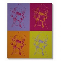 "Graham & Brown Fedora Quartet Canvas Art - 40"" X 32"" - 40-081 - All Wall Art - Wall Art & Coverings - Decor"
