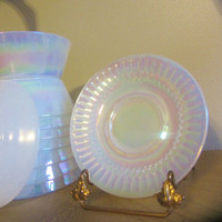 Federal MoonGlow Saucers Opalescent Pearlescent