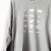 Do No Harm - Stop Eating Animals Raglan Sweatshirt by Vegan Police