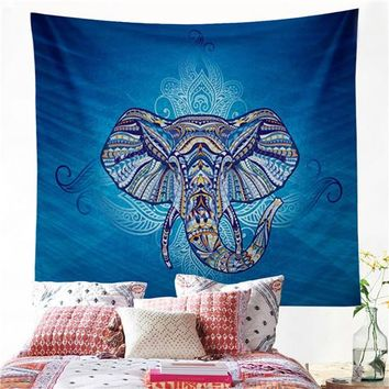 Elephant Wall Twin Hippie Tapestry