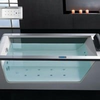 "AM15270 70"" Whirlpool Bathtub With Inline Heater Drainage Device Waterfall Cascade Style Water Inlet Sydney Whirlpool System & Drainage"