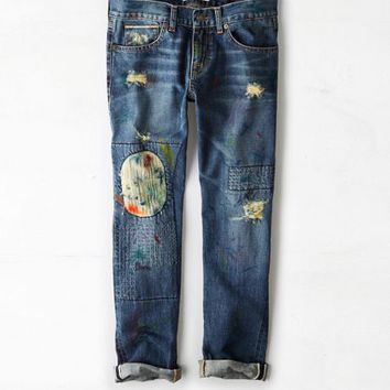 AEO 's Artisan De Luxe Juliet Boyfriend Jean (Medium Wash)
