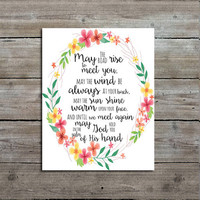 Irish Blessing Print