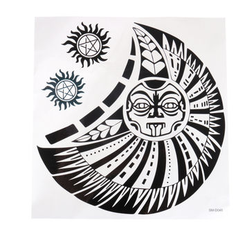 Waterproof Sun Totem Pattern Temporary Chest Body Tattoo Sticker Decal