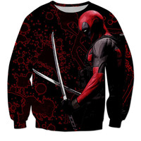 Exclusive Deadpool Swords Long Sleeve Shirt / Tee