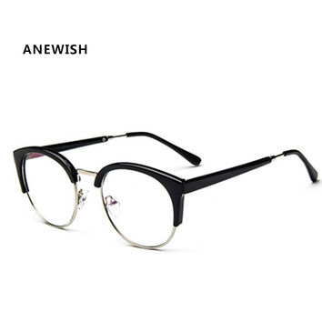 ANEWISH Fashion Anti-Radiation Eyeglasses Myopia Retro Vintage Optical Glasses Frame Plain Eye Glasses