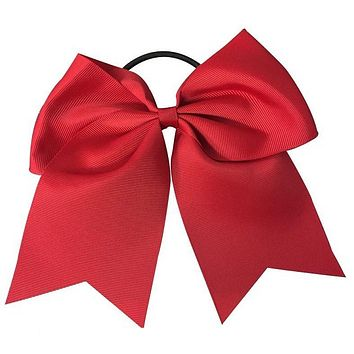Cheer Hair Bow- Red