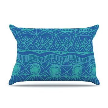 "Catherine Holcombe ""Beach Blanket Confusion"" Pillow Case"