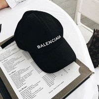 Balenciaga Stylish Women Men Logo Letter Embroidered Outdoor Baseball Cap Hats I