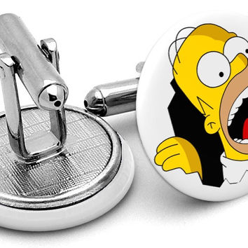 Homer Simpson Cufflinks