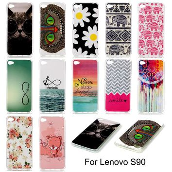 "Lenovo S90 S 90 S90a S90-a Silicone Case Cartoon Soft TPU Gel Back Cover Phone Case for Lenovo S90 S90u 5.0"" Soft Back Covers"