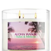 Aloha Waikiki - hulas & hibiscus 14.5 oz. 3-Wick Candle   - Slatkin & Co. - Bath & Body Works