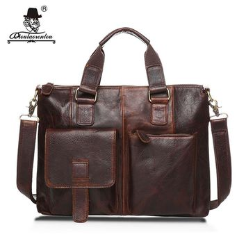 Leather Document Briefcase