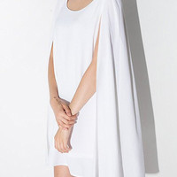 White Chiffon Cape Dress