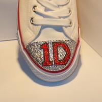 1D, One Direction Crystal Converse, Made to order  on eBay!