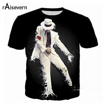 Raisevern New Arrival Michael Jackson 3D Print T Shirt Men Women Hip Hop Funny Tee Tops Harajuku Tshirt Streetwear Tops Dropship