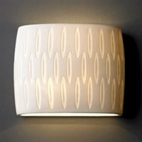 ATGStores - Justice Design Group POR-8855 2 Light Limoges Fluorescent ADA Oval Wall Sconce