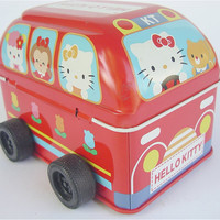 Vintage Hello Kitty Bus Red Toy Bus Red School by VillaCollezione