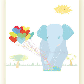Baby Elephant Printable Elephant Print Nursery Printable Kids Wall Decor Kids Printable Elephant Print Wall Art Kids Wall Art Letter A4