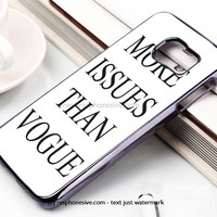 More Issues Than Vogue Samsung Galaxy S6 and S6 Edge Case