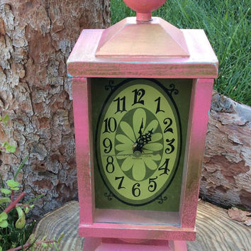 Alice in Wonderland Party Decoration Pink Vintage Clock Mad Hatter White Rabbit Tea Party Centerpiece Birthday Decor