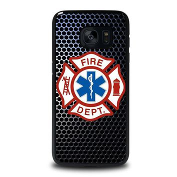 emt ems fire department samsung galaxy s7 edge case cover  number 1