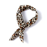 Leopard Print Fabric Hair Tie with Wire – Claire's