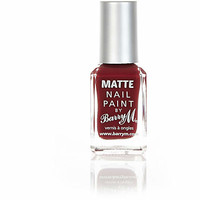 Barry M burgundy matte nail varnish