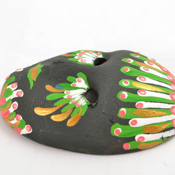 Ceramic handmade fridge magnet Miniature Masquerade Mask beautiful souvenir