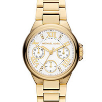 Michael Kors Women's Chronograph Mini Camille Gold-Tone Stainless Steel Bracelet 33mm MK5759