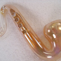 Sax Pipe - medium/large shaped glass pipe
