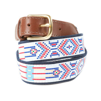 Native Print Ribbon Belt