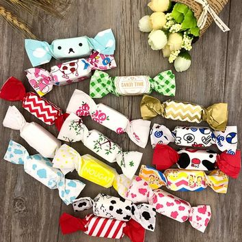 50pcs/set 12.5*9cm Cow Nougat Wrapping Paper Wedding Candy Bag Packing Paper Wrappers Food Grade OPP Varnishing Oil Paper